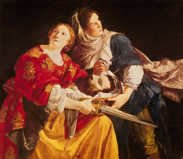 Heroine Photograph - Judith With The Head Of Holofernes Oil On Canvas by Orazio Gentileschi