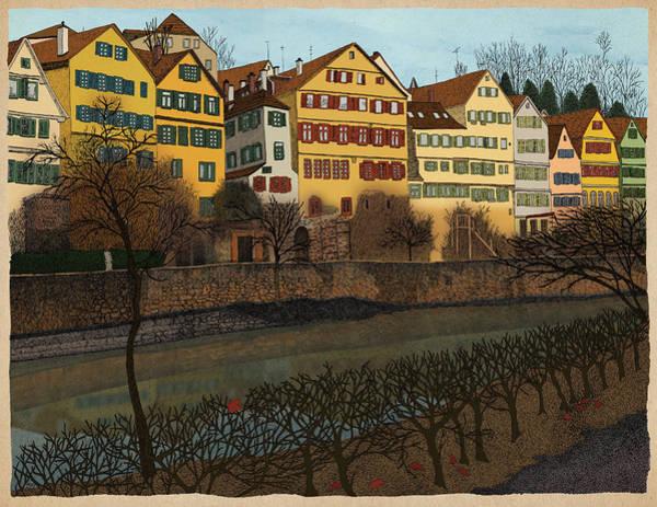 River Drawing - Judith's Walk by Meg Shearer