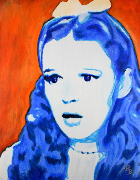 Painting - Judy Garland Dorothy Wizard Of Oz by Bob Baker