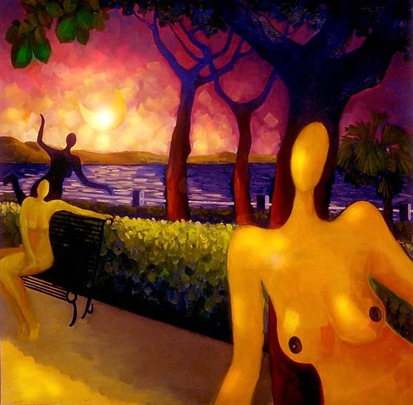 Conceptualism Painting - Juegos Nocturnos by Miguel Suarez-Pierra