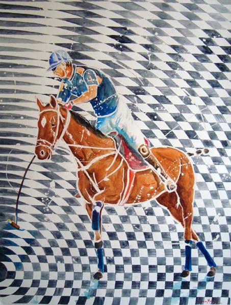 Horsemanship Painting - Jugada Optica by German Rafael Correa-Moraes Vaz