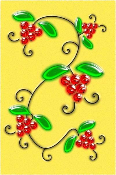 Digital Art - Juicy Berries by Anastasiya Malakhova