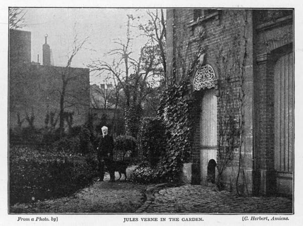 Wall Art - Photograph - Jules Verne  In His Garden At  1 Rue by Mary Evans Picture Library