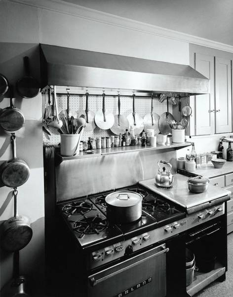 Oven Photograph - Julia Childs Kitchen In Her House In Cambridge by Pedro E. Guerrero