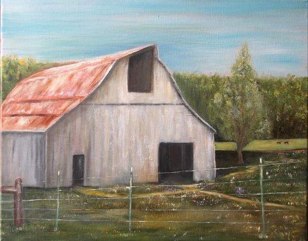Painting - Julian Homestead Barn by DG Ewing