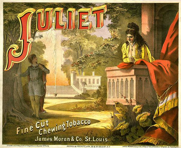 Romeo And Juliet Digital Art - Juliet Tobacco Label by Studio Artist