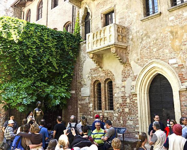 Romeo And Juliet Photograph - Juliet's Balconey - Verona Italy by Jon Berghoff