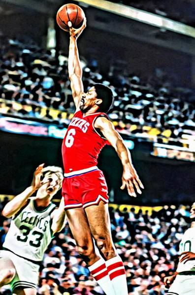 Wall Art - Painting - Julius Erving by Florian Rodarte