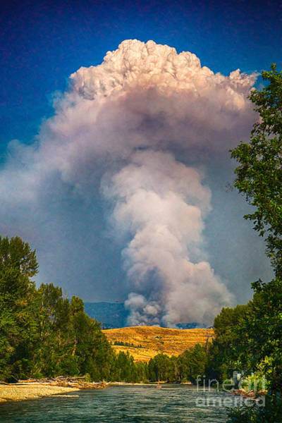Photograph - July 17th 2014 Carlton Complex Plume Wildfire Art By Omaste Witkowski by Omaste Witkowski