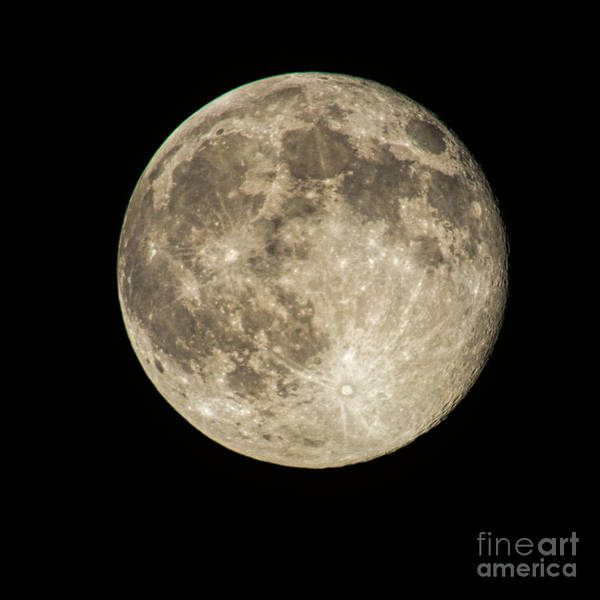 Photograph - July 2014 Full Moon by Dave Bosse