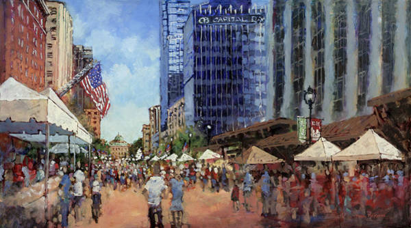 Street Scape Painting - July Fourth In The Capital by Dan Nelson