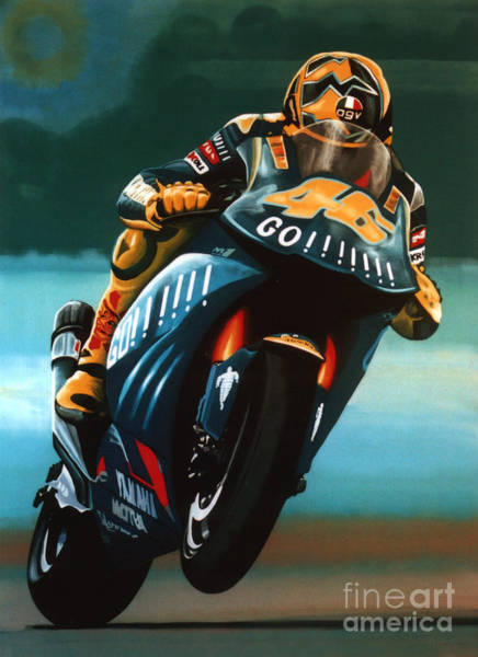 Goat Painting - Jumping Valentino Rossi  by Paul Meijering