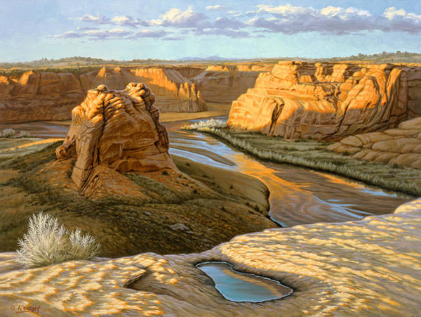 Canyon Painting - Junction Overlook - Canyon Dechelly by Paul Krapf