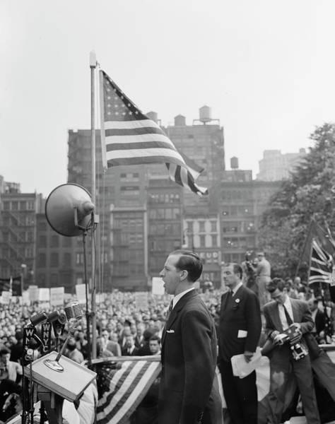 Public Speaker Photograph - June 6, 1944 - Speaker Addressing by Stocktrek Images