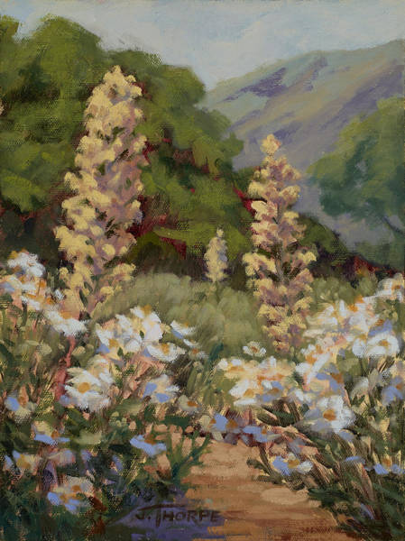 Foothills Wall Art - Painting - June Whites by Jane Thorpe