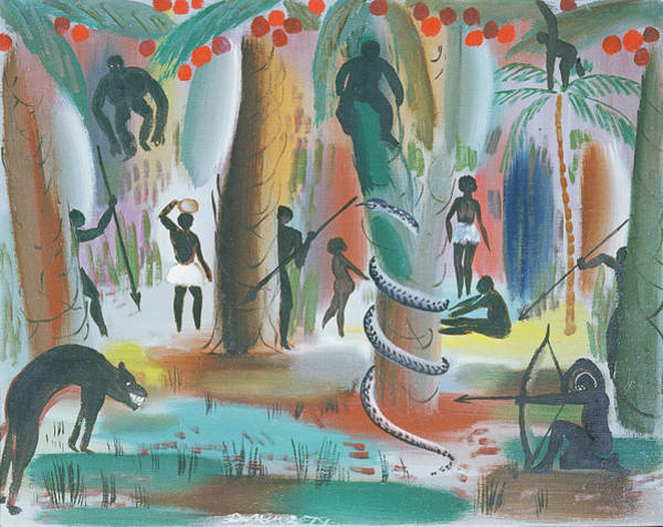 Huntsmen Wall Art - Photograph - Jungle, 1979 Oil On Canvas by Radi Nedelchev