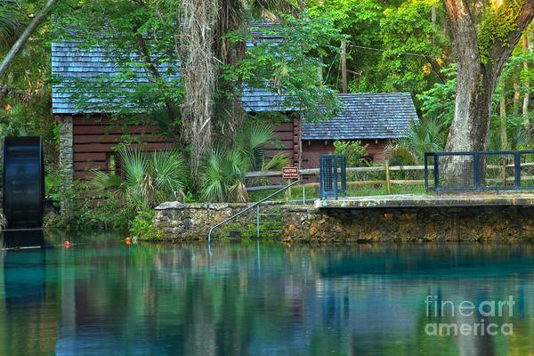 Photograph - Juniper Springs Mill House Reflections by Adam Jewell