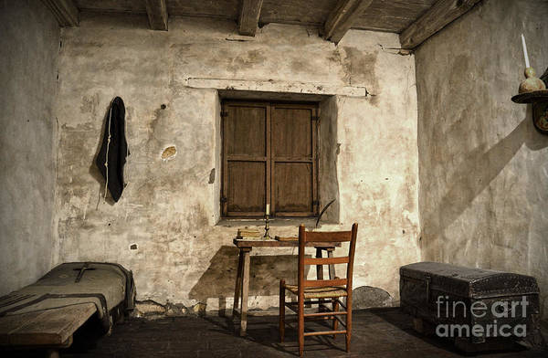 Carmel Mission Photograph - Junipero Serra Cell In Carmel Mission by RicardMN Photography