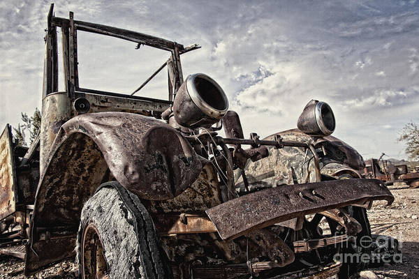 Ghosttown Photograph - Junk Yard Sentinel Stands  by Lee Craig