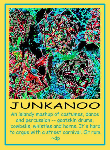Bahamas Digital Art - Junkanoo Poster by Doug Petersen