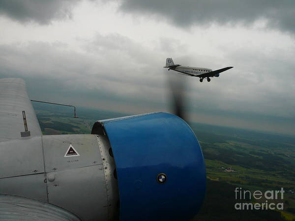 Ju 52 Wall Art - Photograph - Junkers Ju-52 Flight Under Dark Clouds by Joachim Kraus