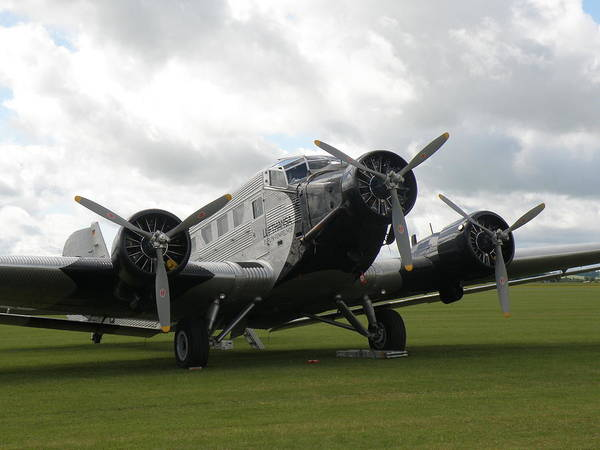 Ju 52 Wall Art - Photograph - Junkers  Ju-52 by Ted Denyer