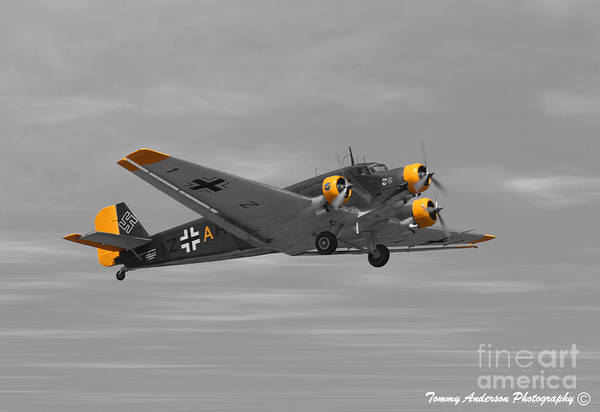 Ju-52 Wall Art - Photograph - Junkers Ju 52 by Tommy Anderson