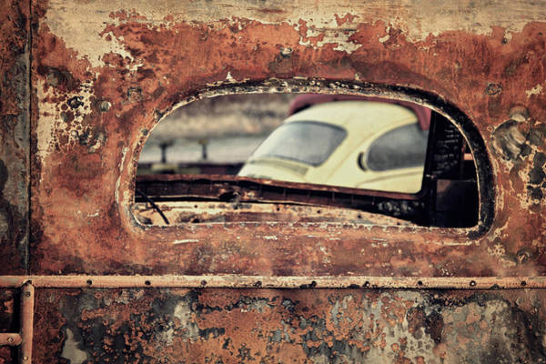 Junkyard Photograph - Junkyard Window by Odd Jeppesen