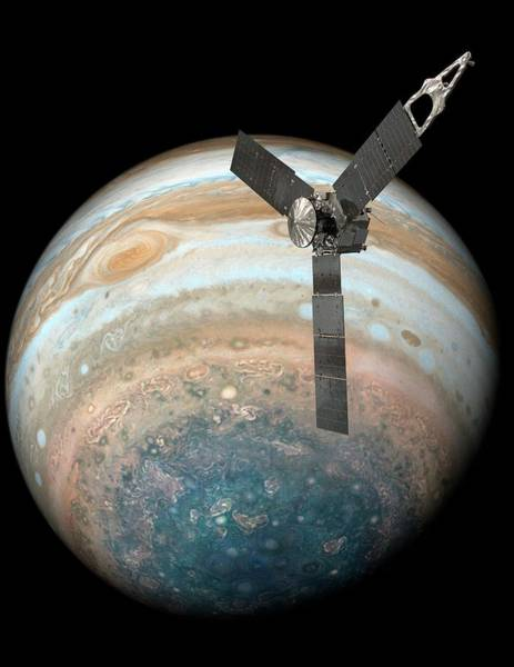Wall Art - Photograph - Juno Spacecraft At Jupiter by Nasa/science Photo Library