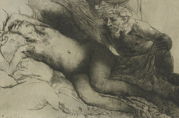 Baroque Drawing - Jupiter And Antiope by Rembrandt