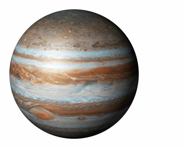 Cutout Wall Art - Photograph - Jupiter From Space by Mikkel Juul Jensen