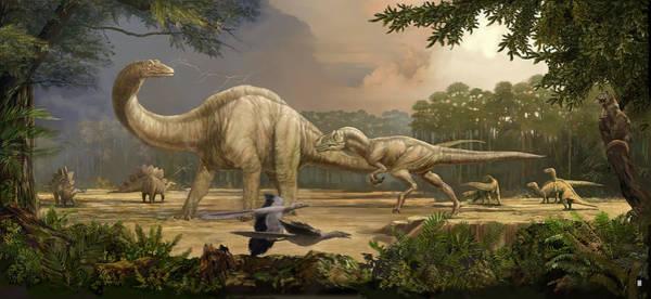 Similar Painting - Jurassic Landscape by Karen Carr