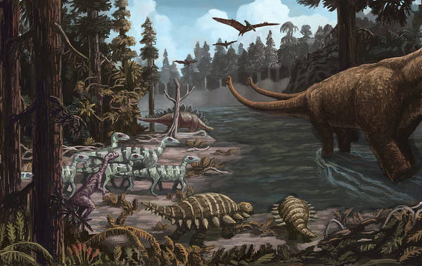 Photograph - Jurassic Period, Illustration by Spencer Sutton