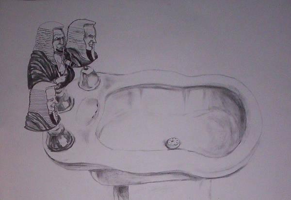 Surrealist Drawing - Jurisbidencia by Lazaro Hurtado