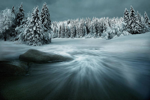 Blue Ice Photograph - Just A Dream by Arnaud Maupetit