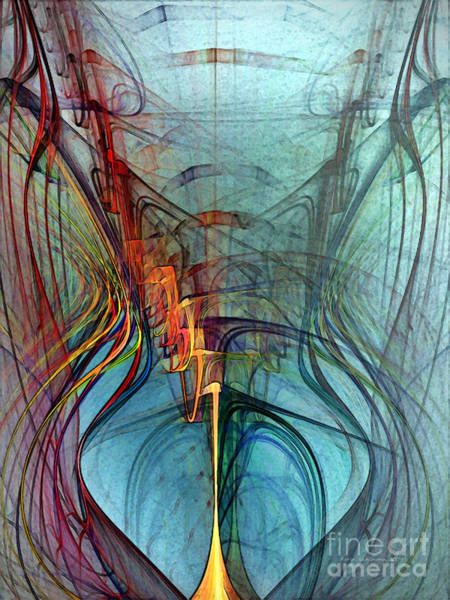 Translucent Digital Art - Just A Melody-abstract Art by Karin Kuhlmann