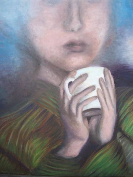 Coffee Painting - Just A Rainy Day by Mila Kronik