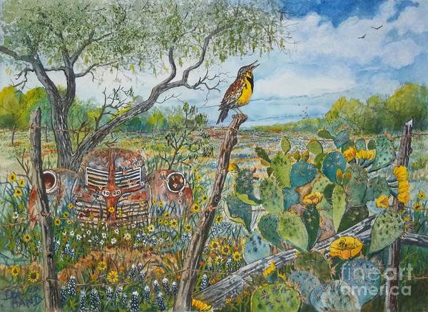 Meadowlark Painting - Spring Time by Don Hand