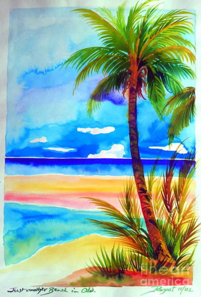 Far North Queensland Wall Art - Painting - Just Another Beach In Far North Queensland Near Palm Cove by Roberto Gagliardi