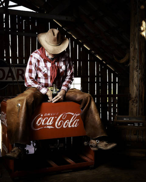 Photograph - Just Another Coca-cola Cowboy 3 by James Sage