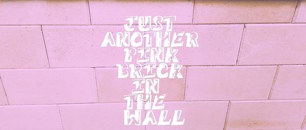 Rock And Roll Wall Art - Photograph - Just Another Pink Brick In The Wall by Theano Exadaktylou