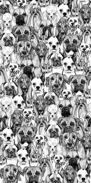 Basset Wall Art - Drawing - Just Dogs by MGL Meiklejohn Graphics Licensing