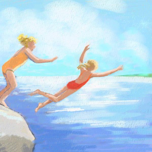 Wall Art - Digital Art - Just Jump by Leslie Alfred McGrath