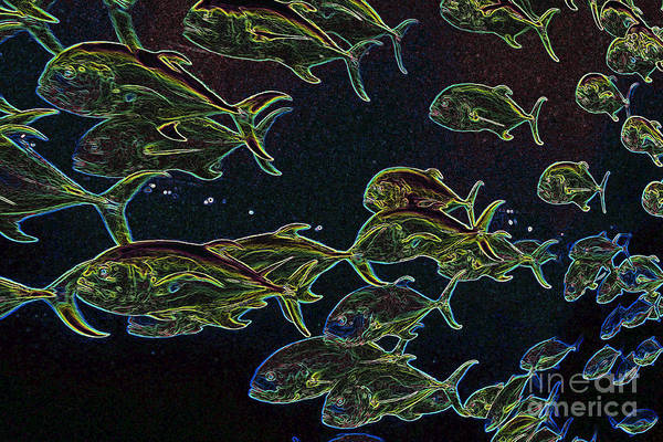 Digital Art - Mad Fish Abstract by Carol Groenen