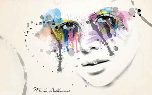 Abstract People Painting - Just  Like This  by Mark Ashkenazi