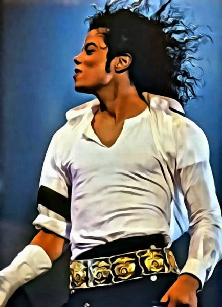 Painting - Just Michael by Florian Rodarte