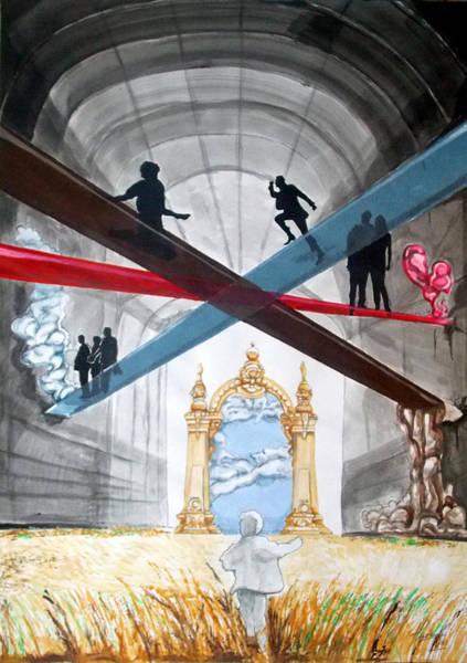 Wall Art - Painting - Just Paths  by Lazaro Hurtado