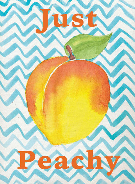 Peachy Wall Art - Painting - Just Peachy Painting by Christy Beckwith