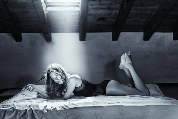 Bed Photograph - Just Sara... by Fabrizio Micheli