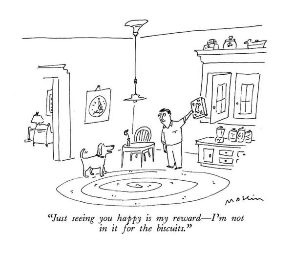 Kitchen Drawing - Just Seeing You Happy Is My Reward - I'm by Michael Maslin